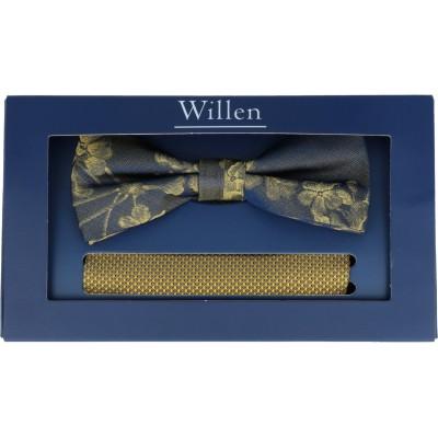 Willen Set Schleife Dark Floral/ Tuch Uni One Size