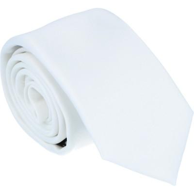 Tom Harrison Krawatte Satin reinweiß 6,0cm