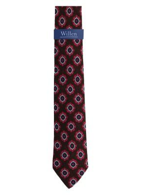 Willen Krawatte Floral Wolle 7,5cm