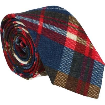 Willen Krawatte 100% Wolle Multicolor Karo
