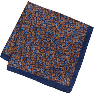 Willen Einstecktuch Blumen-Allover 34,2cmx34,2cm