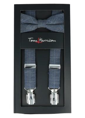 Tom Harrison Set Hosenträger und Schleife Check One Size