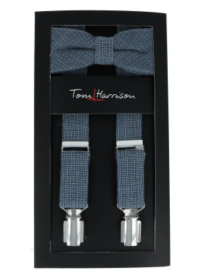 Tom Harrison Set Hosenträger und Schleife Uni Struktur One Size