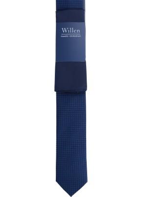 Tom Harrison Set Krawatte Kleinmuster mit Einstecktuch Uni One Size