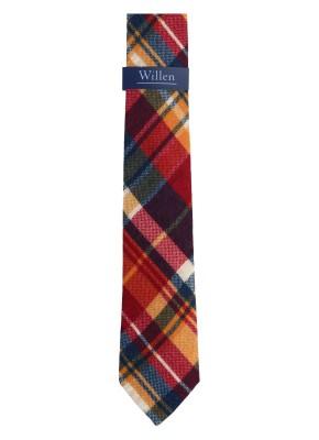 Willen Krawatte Karo Wolle 7,5cm