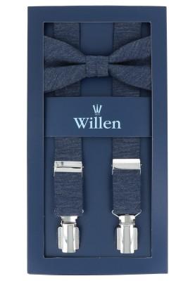 Tom Harrison Set Hosenträger und Schleife Uni Melange One Size