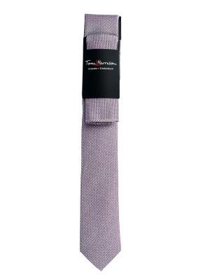 Tom Harrison Set Krawatte mit Einstecktuch Uni Struktur One Size