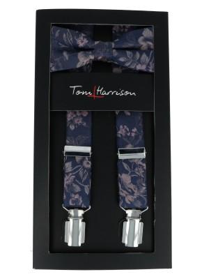 Tom Harrison Set Hosenträger und Schleife Blume One Size