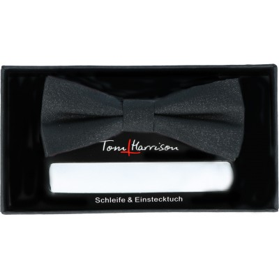 Tom Harrison Set Schleife und Tuch Lurex One Size